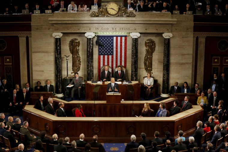 Image: U.S. President Barack Obama delivers his State of the Union address to a joint session of Congress in Washington