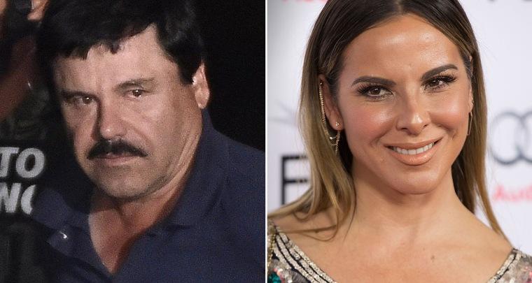 """Drug kingpin Joaquin """"El Chapo"""" Guzman and actress Kate del Castillo"""