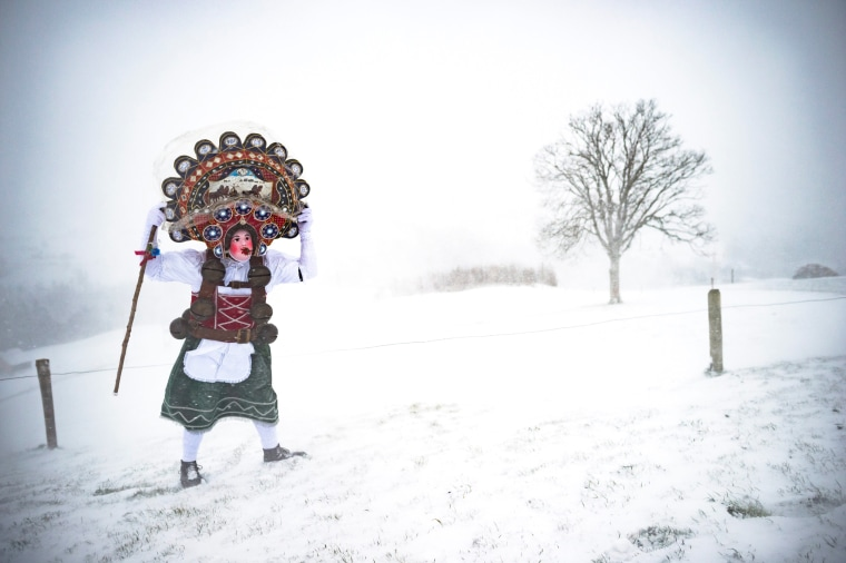 Image: Swiss Alpine New Year Tradition of Silvesterclaus
