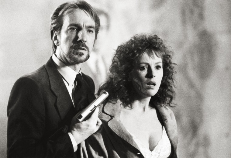 DIE HARD, from left: Alan Rickman, Bonnie Bedelia, 1988. ©20th Century-Fox Film Corporation, TM & Co