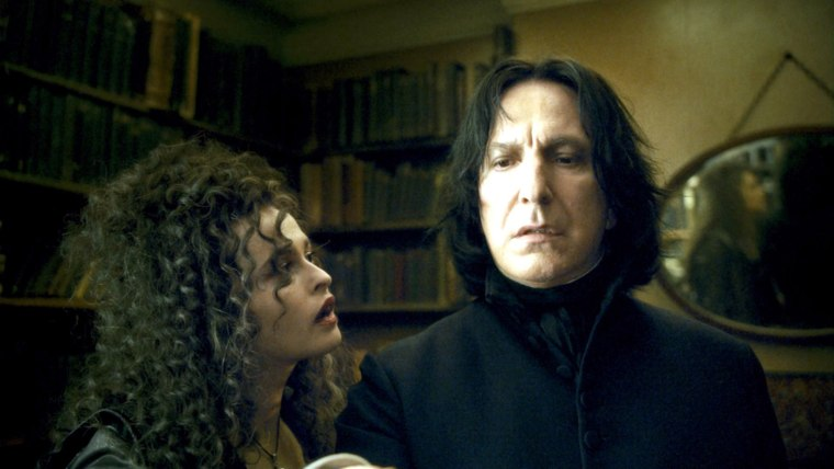 HARRY POTTER AND THE HALF-BLOOD PRINCE, from left: Helena Bonham Carter, Alan Rickman, 2009. ©Warner