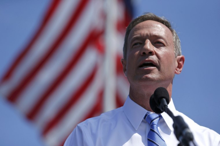 Image: Former Maryland Governor Martin O'Malley announces his intention to seek the Democratic presidential nomination in Baltimore, Maryland