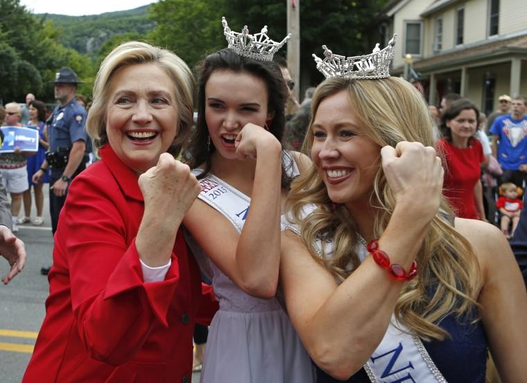 Image: Hillary Rodham Clinton, Holly Blanchard, Allie Knault