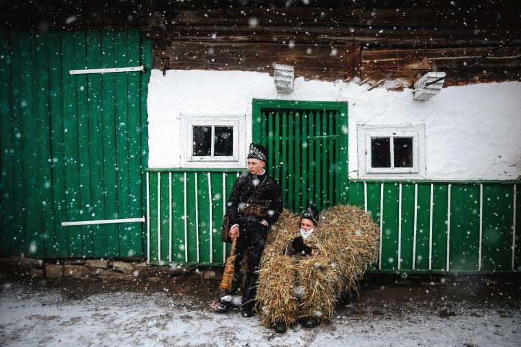 Image: Ukrainian traditional holiday Malanka