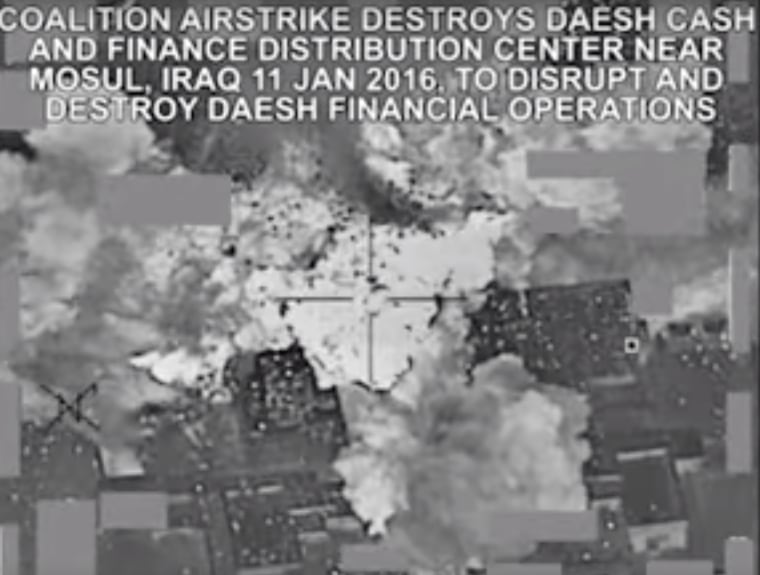 Image: Coalition airstrike destroys ISIS finance distribution center