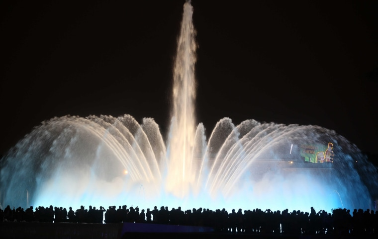 Image: Peru debuts as the world's water display in a public park