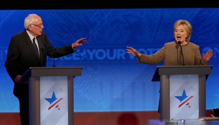 Image: Democratic Presidential Candidates Debate In New Hampshire