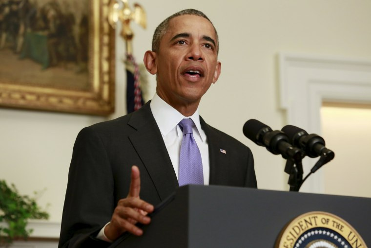 Image: President Barack Obama delivers a statement on Iran