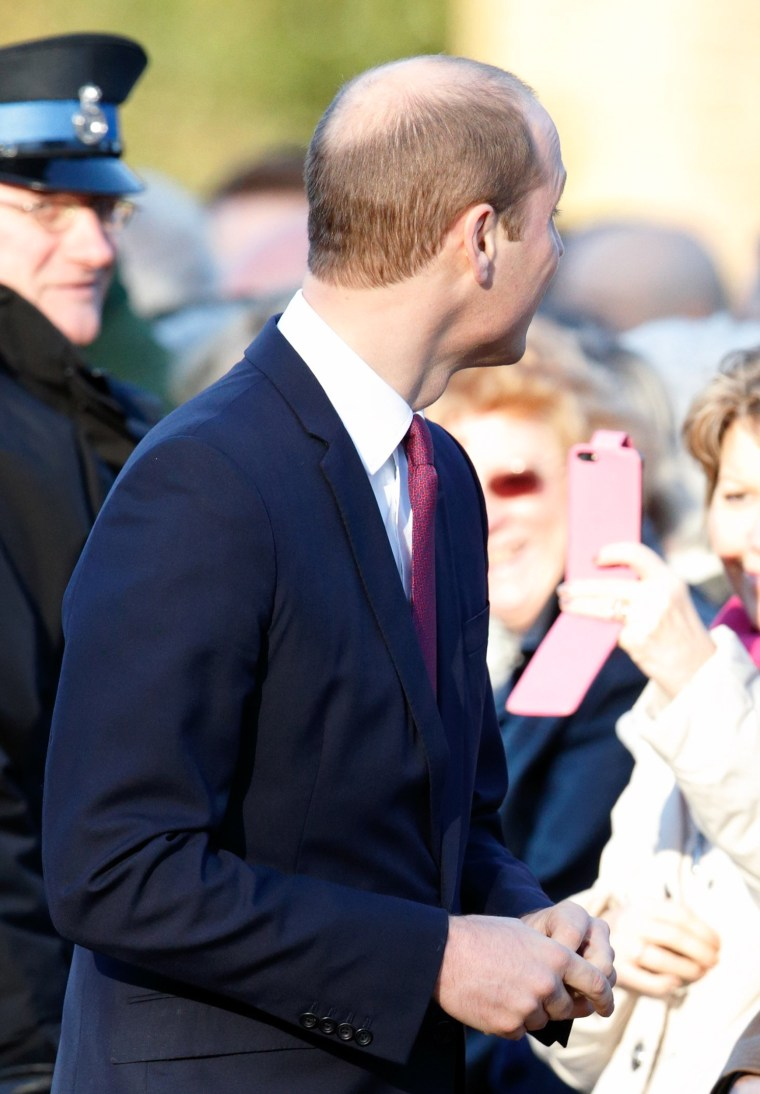 A photo of Prince William and his new haircut