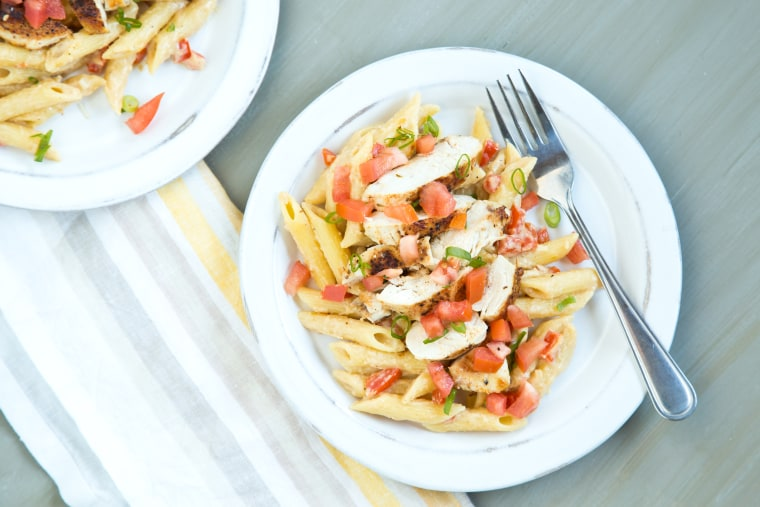 Healthier Cajun chicken pasta recipe