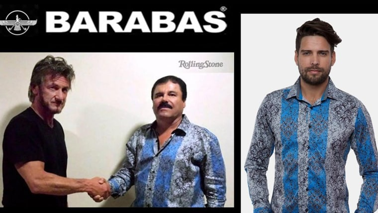 A look at the brand's website today, featuring 'El Chapo.'