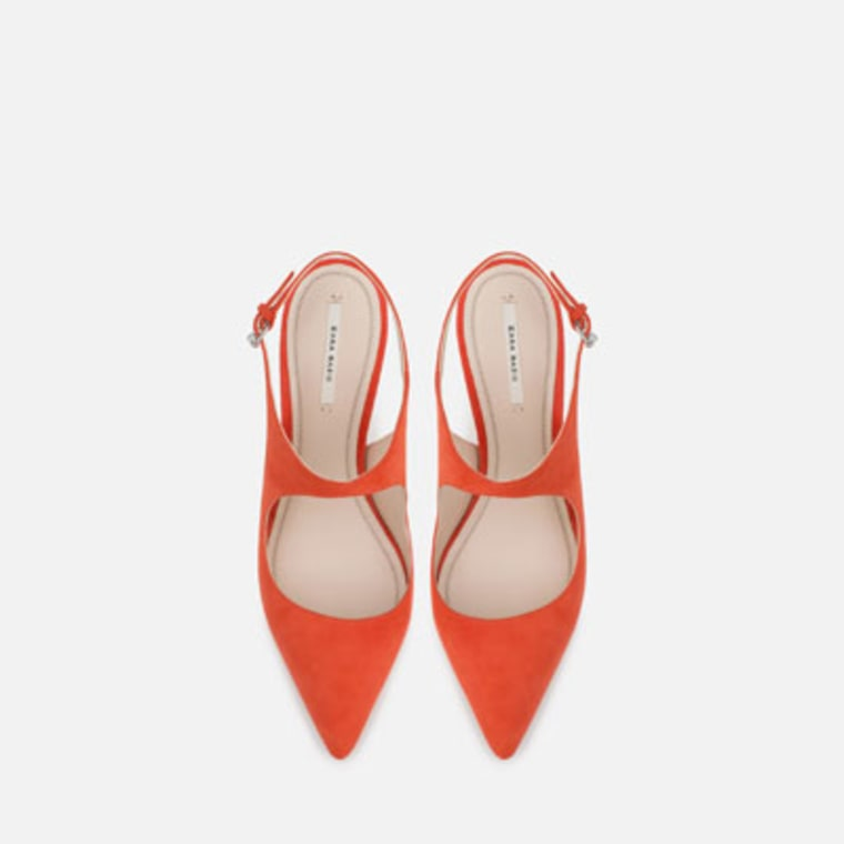 Zara red slingback shoe