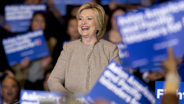 Hillary Clinton Campaigns In San Gabriel