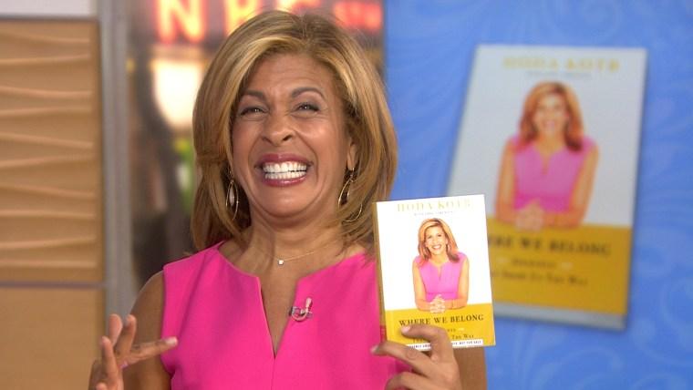 Hoda promoting her new book.