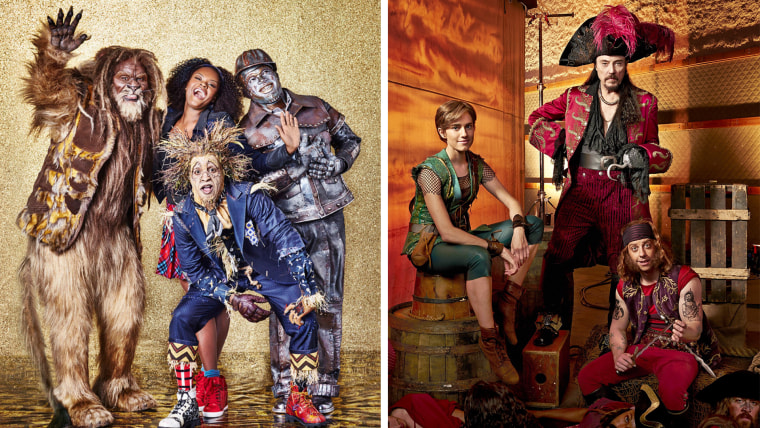 The cast of The Wiz and the cast of Peter Pan