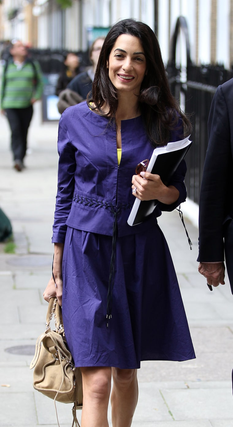 Amal Alamuddin Leaves Work & Gets Some Starbucks