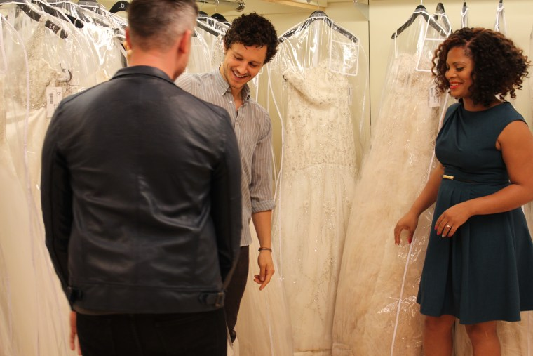 """Precious Davis searches for a dress on TLC's """"Say Yes to the Dress."""""""