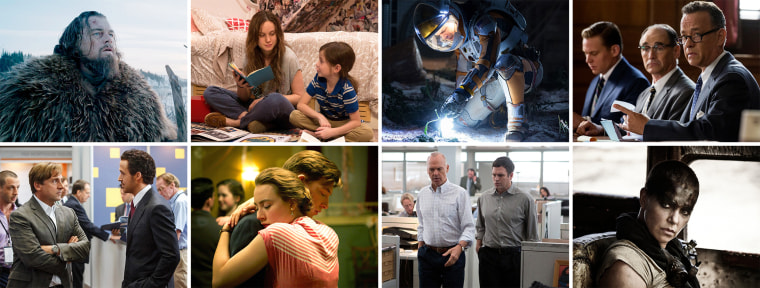 Best Picture nominees for the 88th Academy Awards.