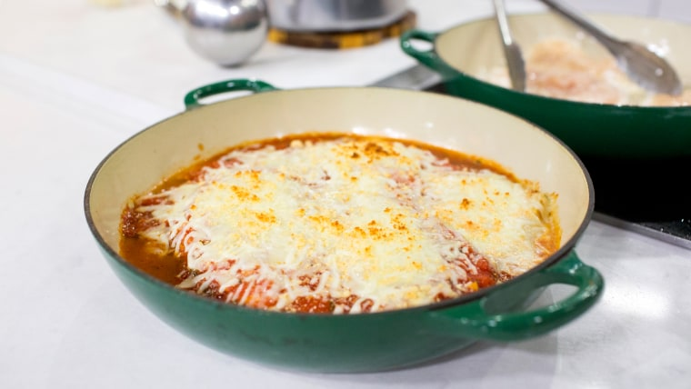 Katie Lee makes a healthier version of a classic chicken Parmesan