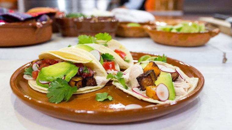 Marcela Valladolid's recipe for jalapeno roast chicken tacos