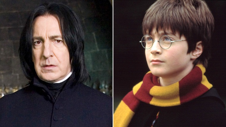 HARRY POTTER AND THE ORDER OF THE PHOENIX, Alan Rickman, 2007. ©Warner Bros./courtesy Everett Collection  HARRY POTTER AND THE SORCERER'S STONE, Daniel Radcliffe, 2001