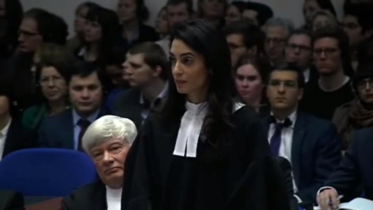 Amal Clooney has worked as an internal human rights lawyer for the last 15 years.
