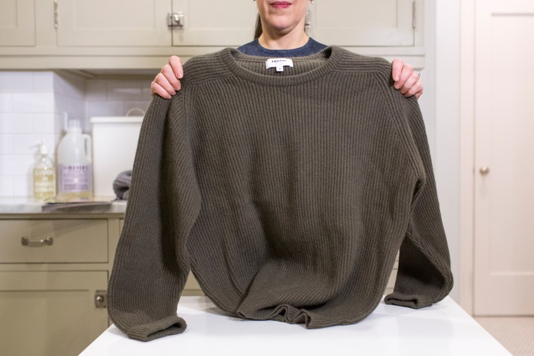 Stay organized: How to fold a chunky sweater