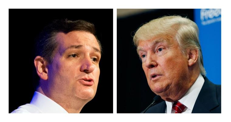 Image: Ted Cruz, Donald Trump
