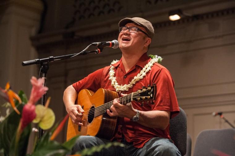 """Patrick Landeza, the first and only mainland-born-and-raised Hawaiian musician to win the Nā Hōkū Hanohano Award, the premier Hawaiian music award, and the subject of the new documentary film, """"The Story of Patrick Landeza."""""""