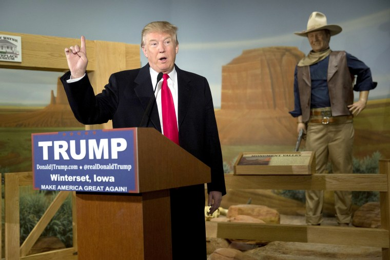 Image: BESTPIX - Donald Trump Makes Campaign Swing Through Iowa