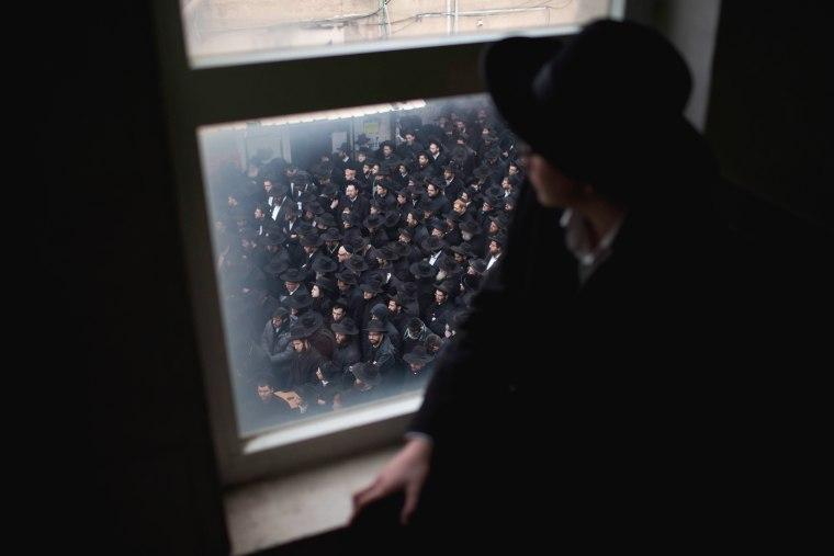 Image: Rabbi Rafael Shmuelevitz funeral in Jerusalem