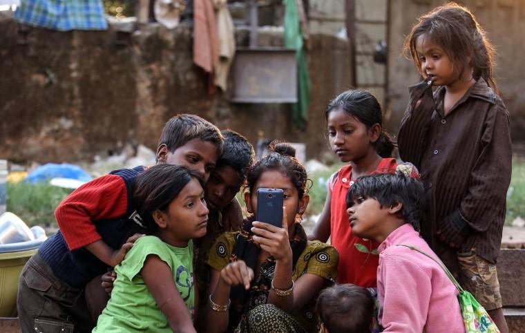 Image: Homeless children in Mumbai
