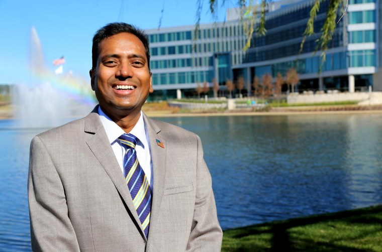 """Hanu Karlapalem has lived in Madison, Alabama, for over 16 years. In 2016, he's running for mayor in hopes of making the city the """"number one"""" small city in America."""
