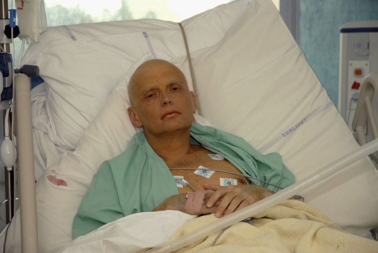 Image: Alexander Litvinenko is pictured at the Intensive Care Unit of University College Hospital