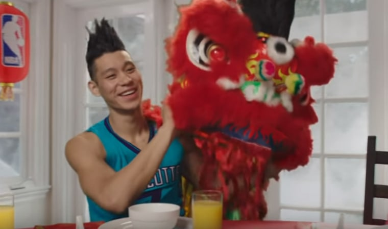 Jeremy Lin is one of the NBA stars ringing in the Lunar New Year in a new video from the NBA posted Jan. 19, 2016.