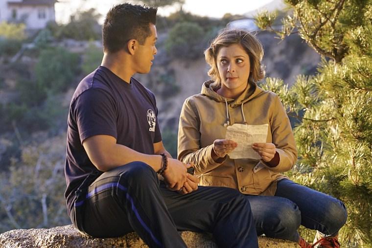 "Vincent Rodriguez III with Rachel Bloom in an episode of ""Crazy Ex-Girlfriend"" on The CW."