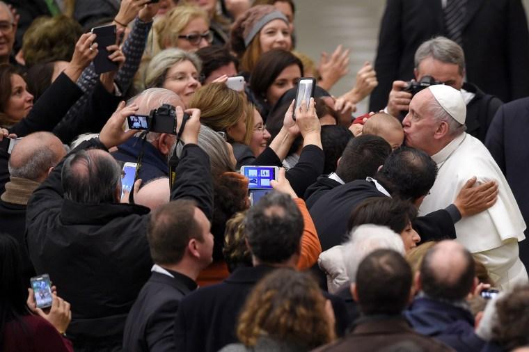 Image: TOPSHOT-VATICAN-POPE-AUDIENCE-JUBILEE