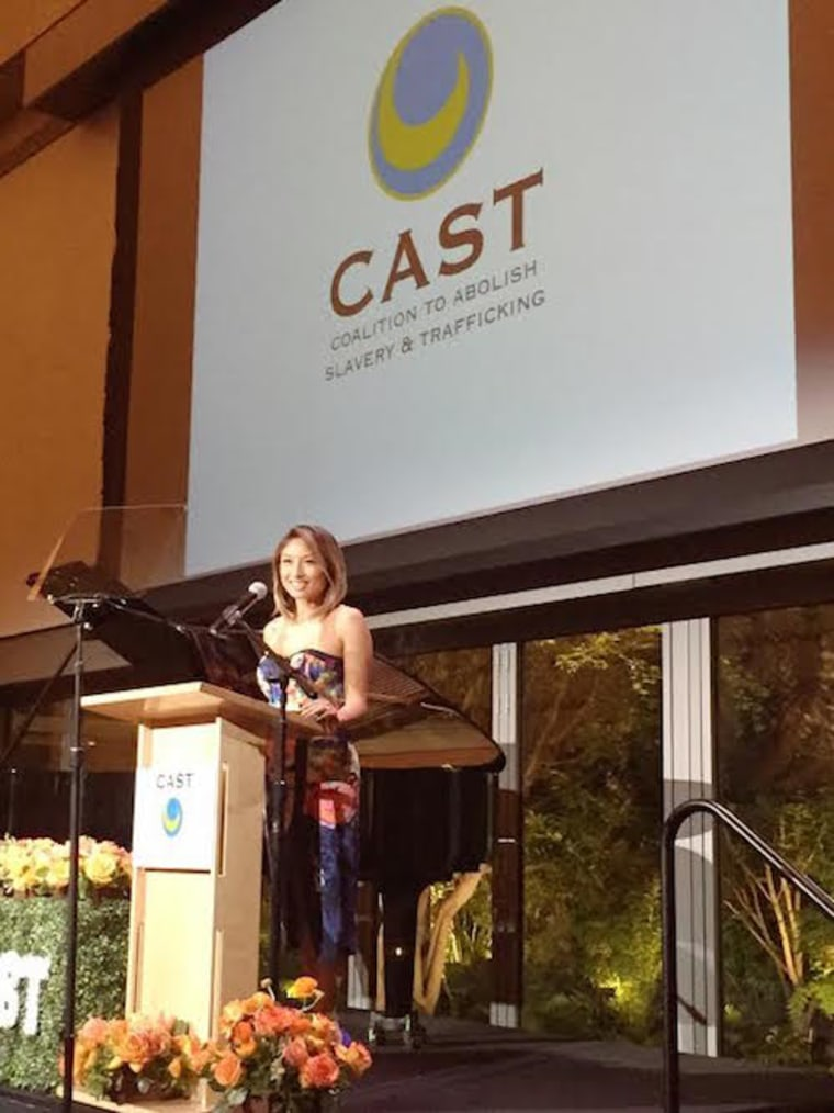 Jeannie Mai hosts the 17th Annual CAST (Coalition to Abolish Slavery and Trafficking) Gala, May 21, 2015.