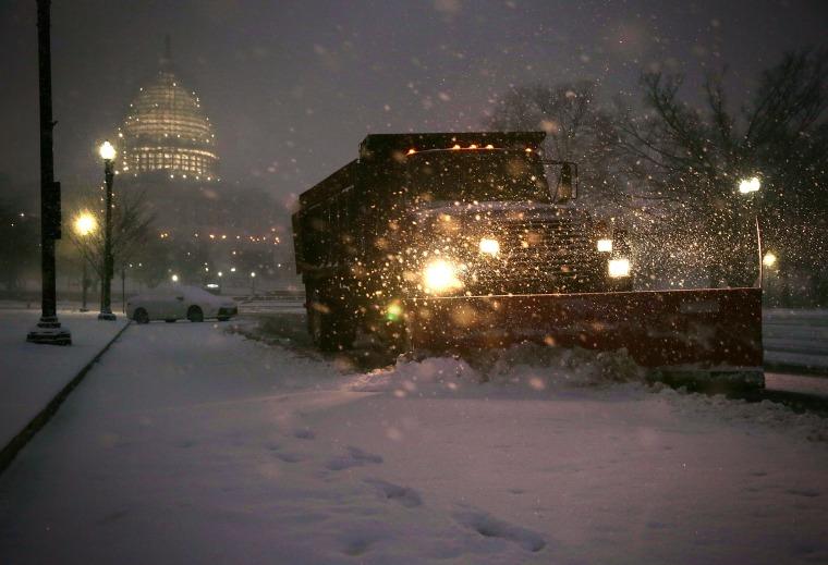 Image: Mid Atlantic States Prepare For Large Snow Storm