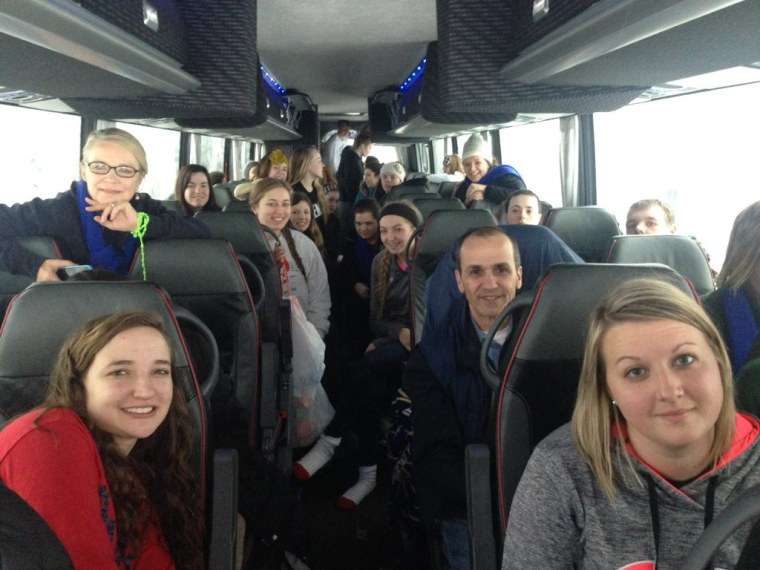 More than 40 high school students were stuck on a bus for more than 14 hours on the Pennsylvania Turnpike.