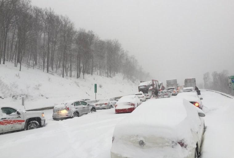 Interstate 76 in western Pennsylvania on Jan. 23, 2016.