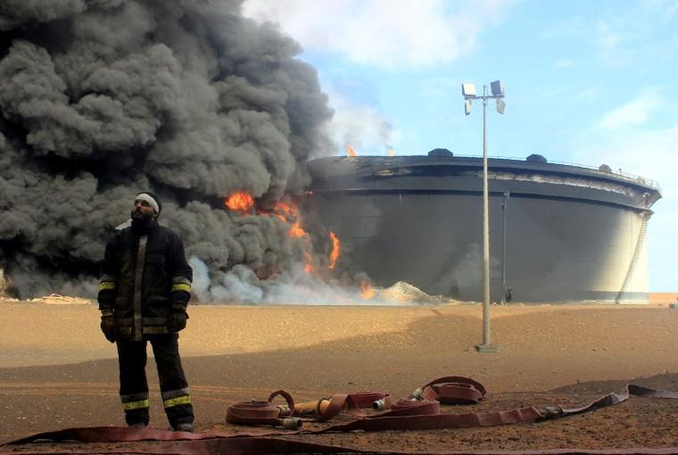 Image: Libyan fireman