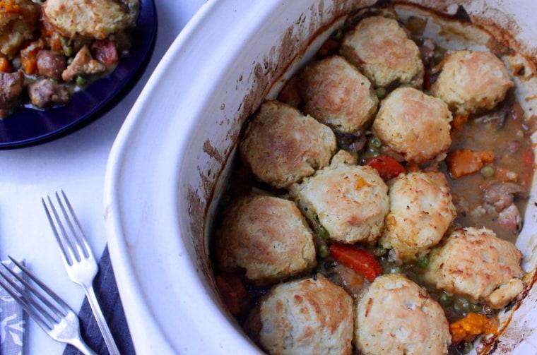 Slow Cooker Chicken and Biscuit Pot Pie