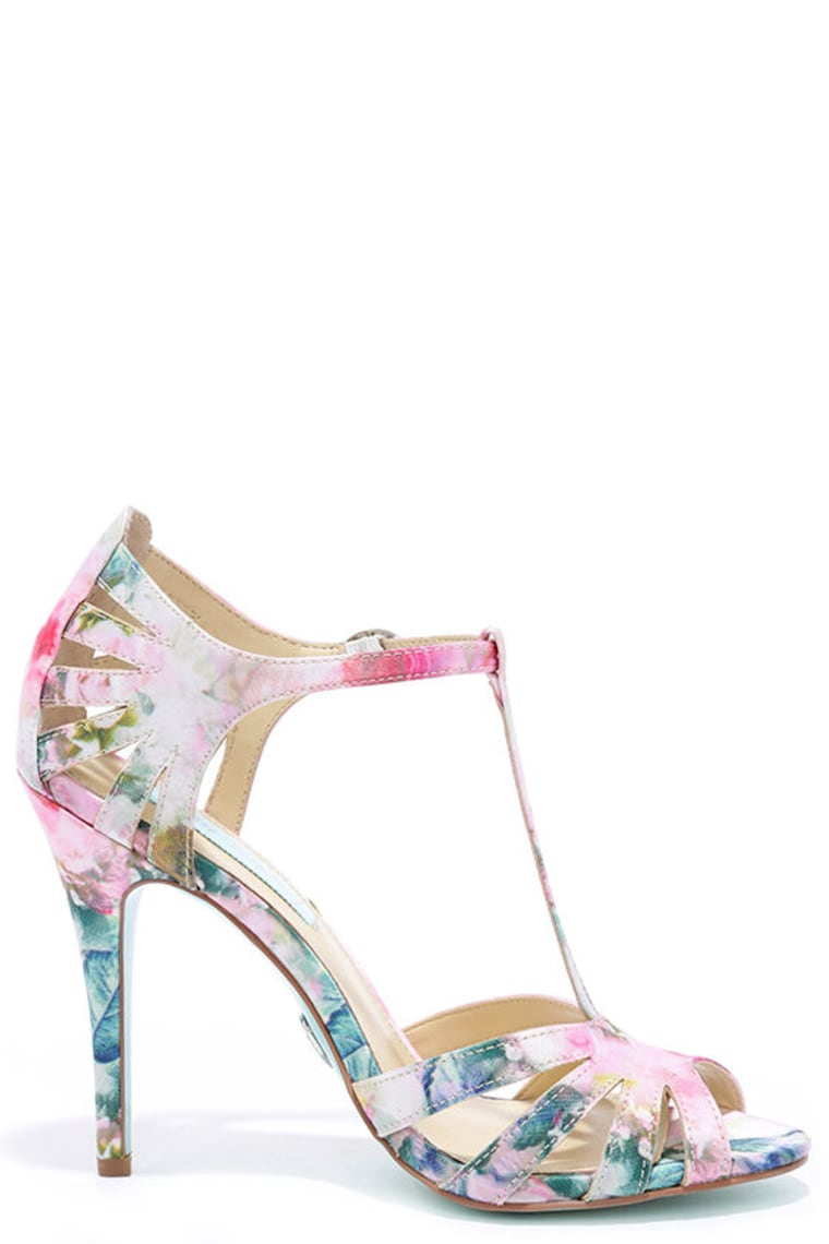 Blue by Betsey Johnson Tee Floral Dress Sandal