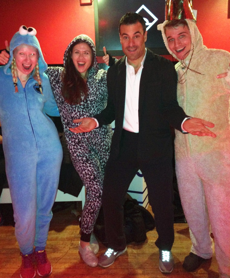 Suitsy's not only boardroom-appropriate — it fits right in at a onesie-themed dance party such as Daybreaker, a morning dance party series in New York that begins at 6 a.m.