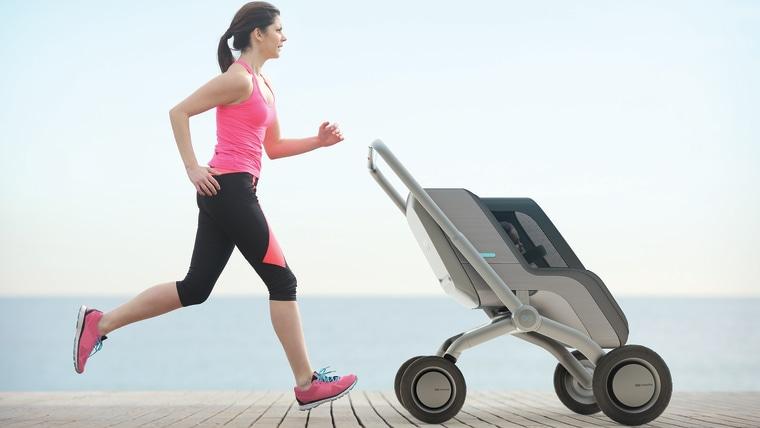 Smartbe stroller is a smart, self-propelled stroller