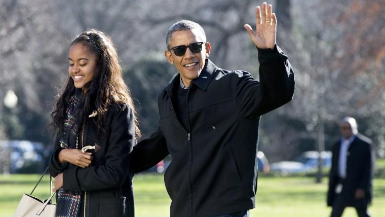Image: Barack Obama, Malia Obama