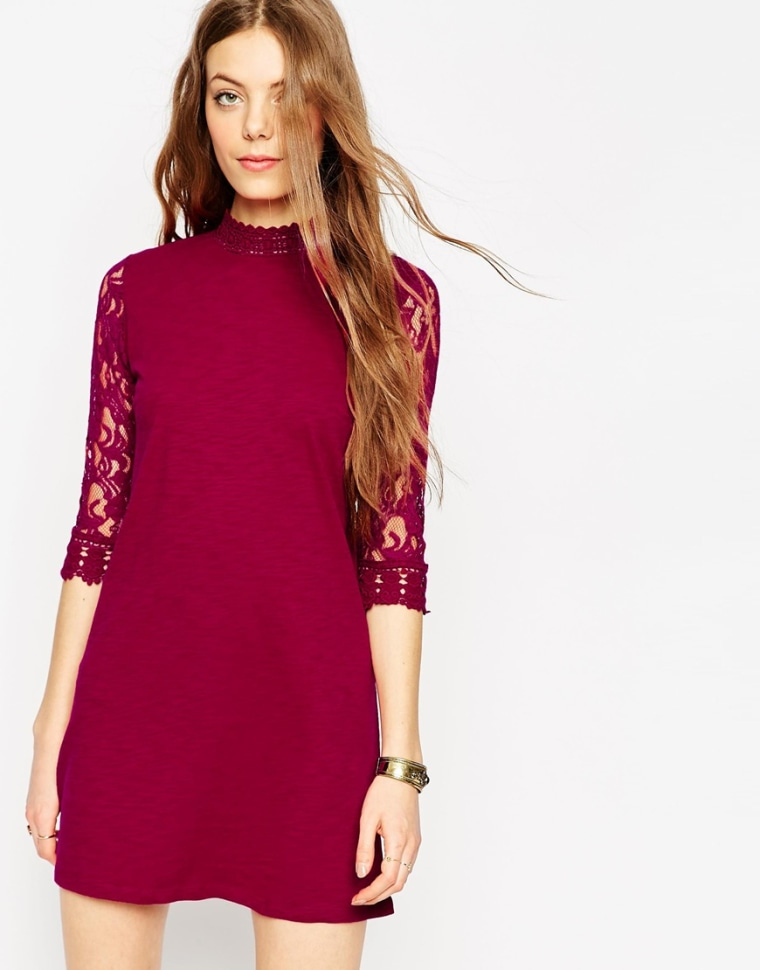 ASOS shift lace dress