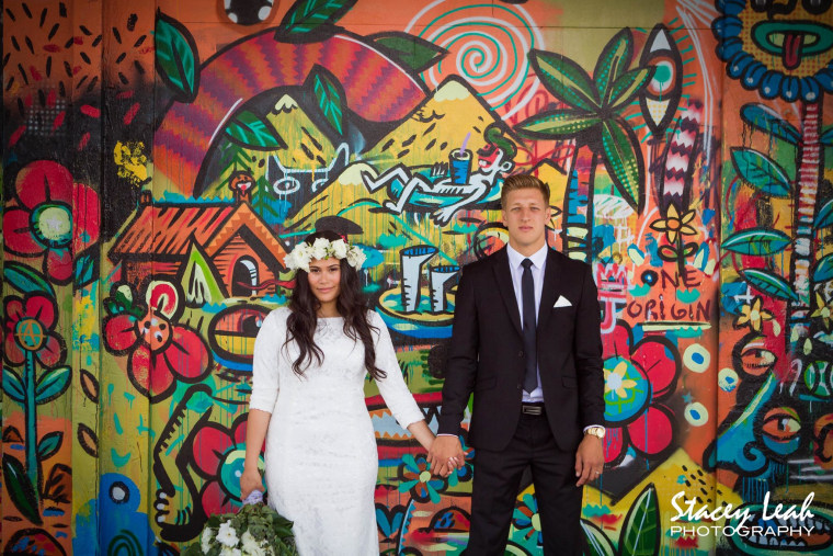 The Armstrongs got married Jan. 15 in Hamilton, New Zealand.