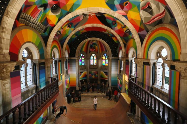 Image: SPAIN-SKATING-CHURCH